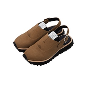 OFFICER SANDALS - GRAY BROWN