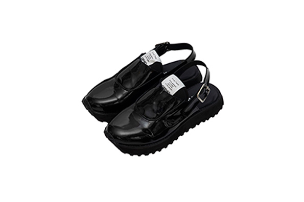 OFFICER SANDALS - BLACK PATENT